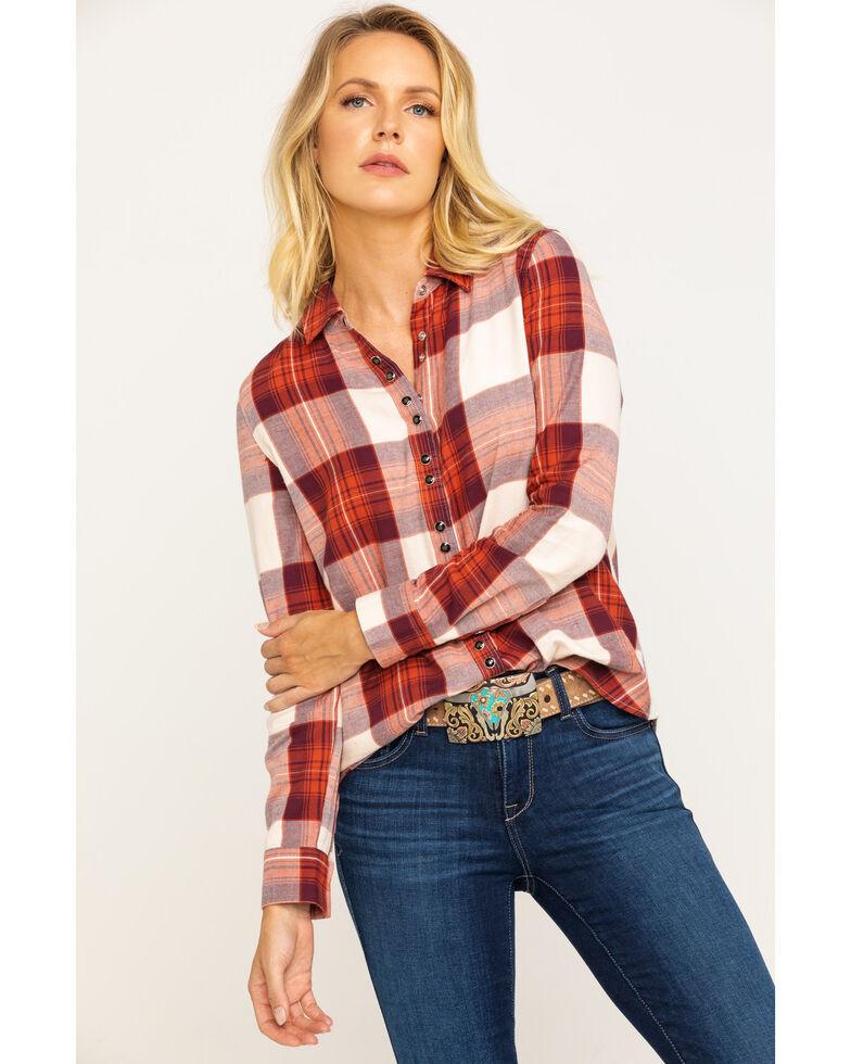 Shyanne Life Women's Rust Plaid Flannel Shirt, Rust Copper, hi-res