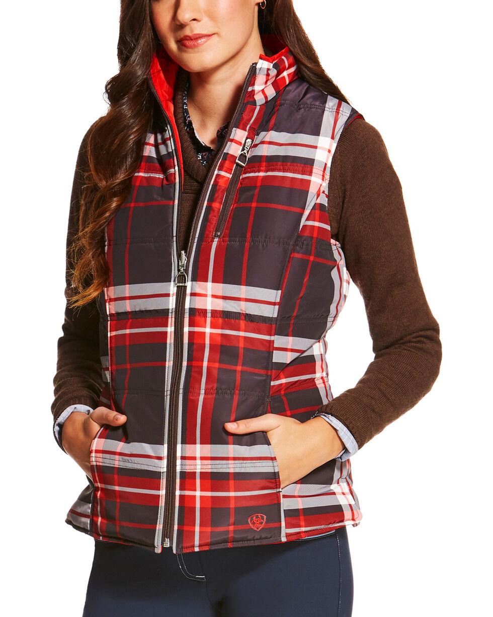Ariat Women's Galway Plaid Reversible Vest, , hi-res