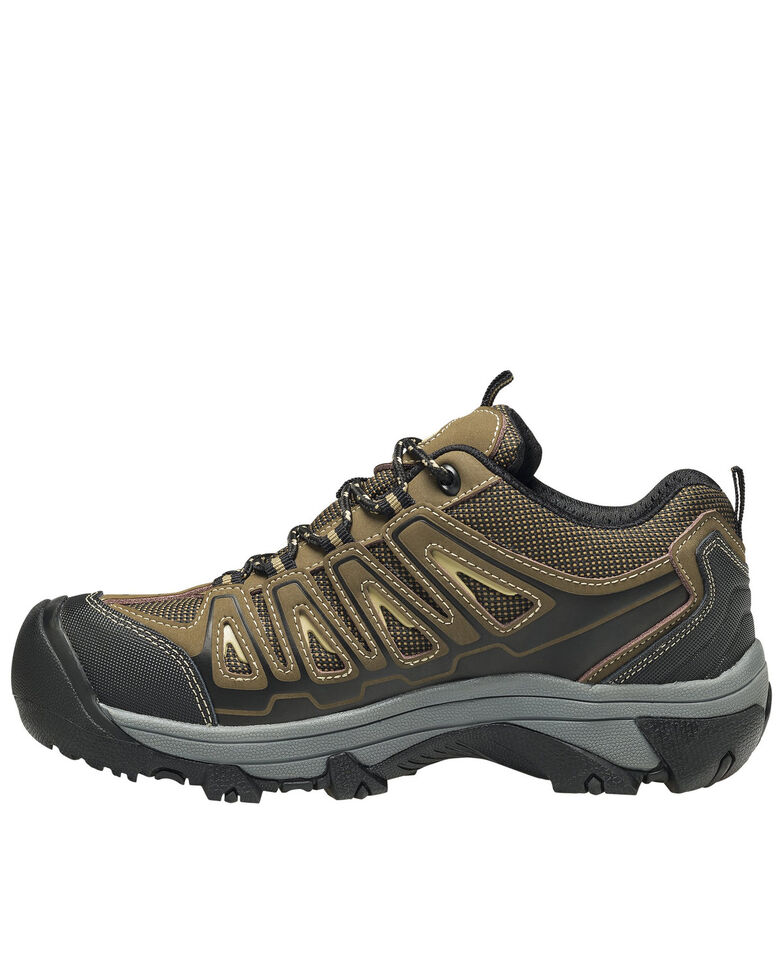 Avenger Women's Trench Waterproof Work Shoes - Steel Toe, Brown, hi-res