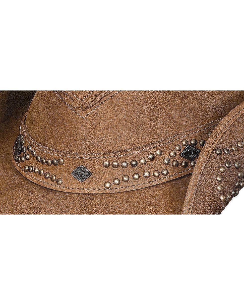 Bullhide Women's Hidden Pleasures Leather Hat, Honey, hi-res