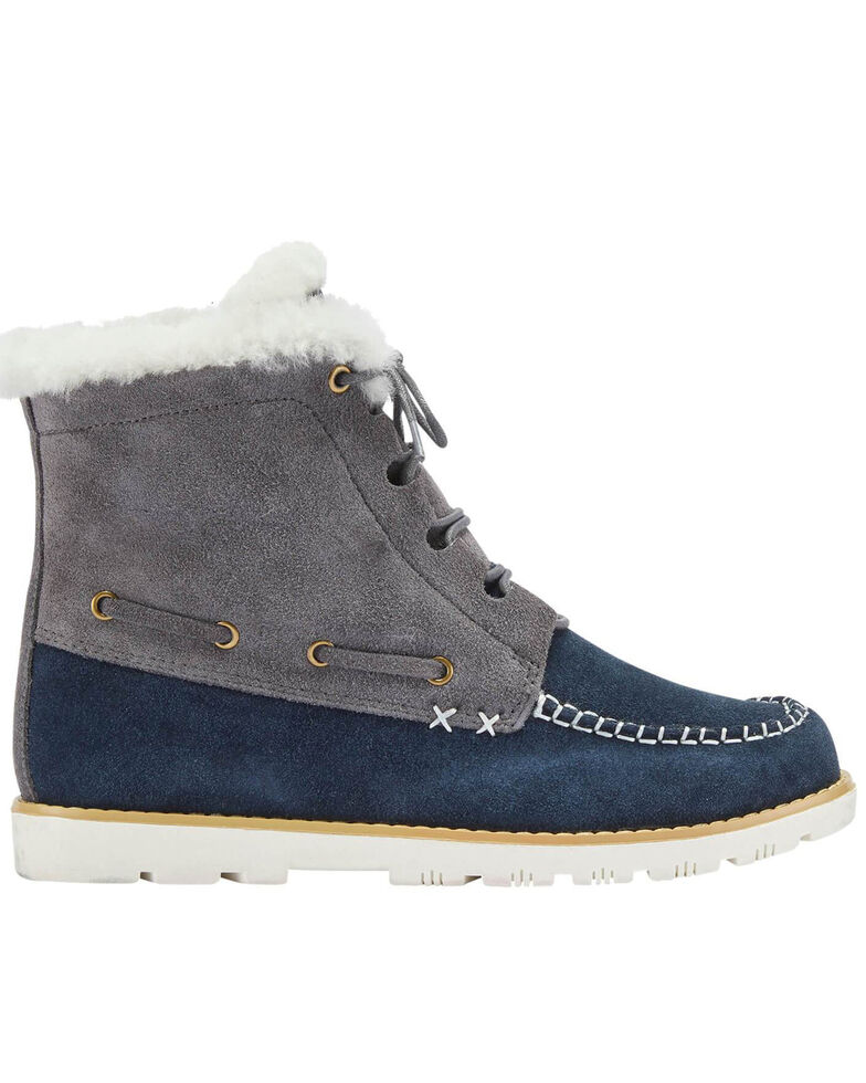 Lamo Footwear Women's Meru Winter Boots - Moc Toe, Medium Grey, hi-res