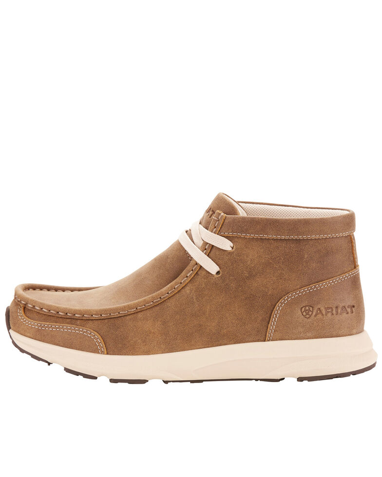 Ariat Women's Spitfire Brown Bomber Boots - Moc Toe, Brown, hi-res