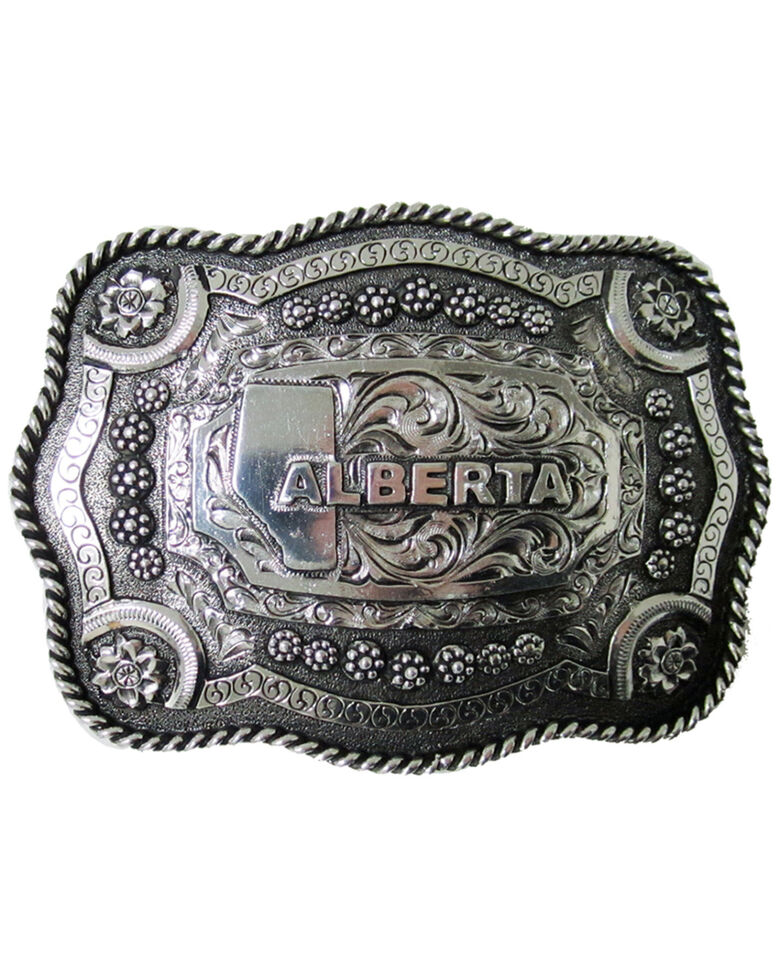 AndWest Roped Edge Alberta Buckle, Gold, hi-res