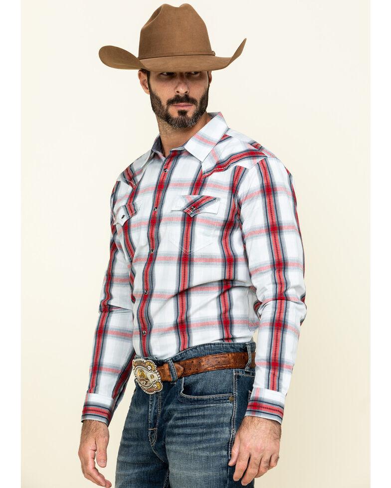 Cody James Men's Rough Talk Plaid Long Sleeve Western Shirt - Tall , Red, hi-res