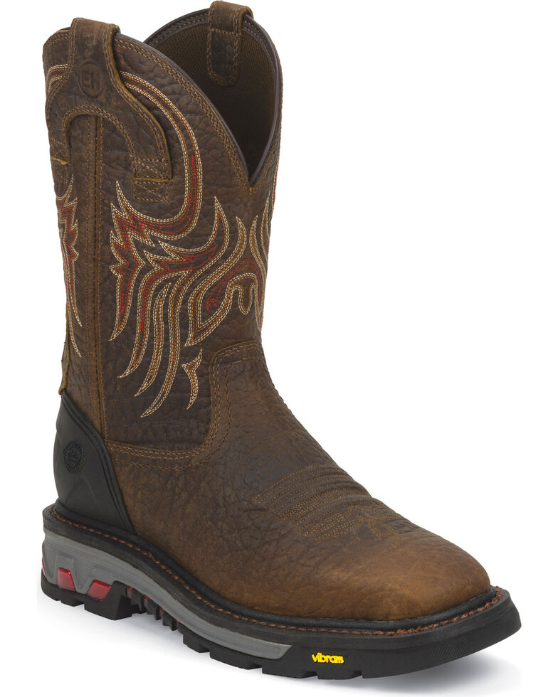 Justin Men's Commander X5 Work Boots, Mahogany, hi-res
