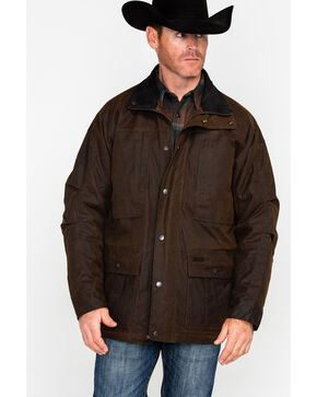Outback Trading Men's Oilskin Deer Hunter Jacket, Bronze, hi-res