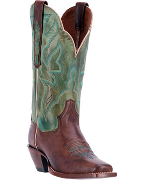 Dan Post Women's Hot Darby Western Boots, Chocolate, hi-res