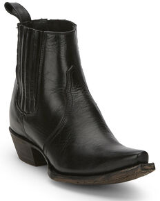 Tony Lama Women's Coco Black Fashion Booties - Snip Toe, Black, hi-res