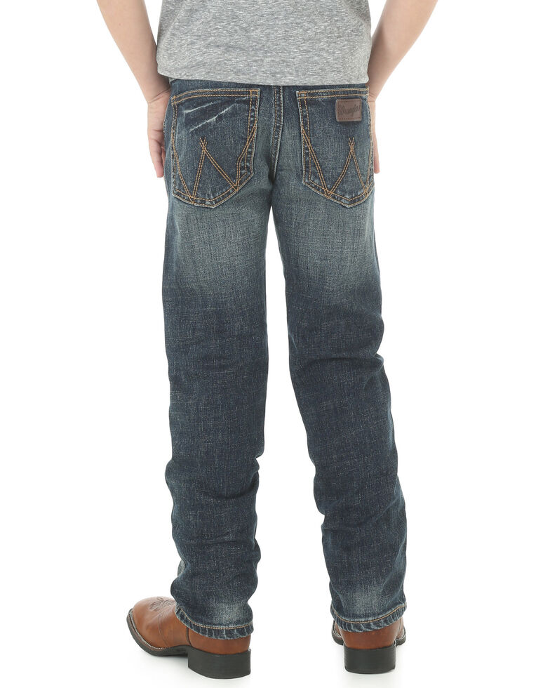 Wrangler Retro Boys' 1-7 Low Slim Straight Jeans, Indigo, hi-res