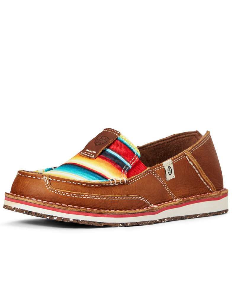 Ariat Women's Serape ECO Cruiser Shoes - Moc Toe, Brown, hi-res