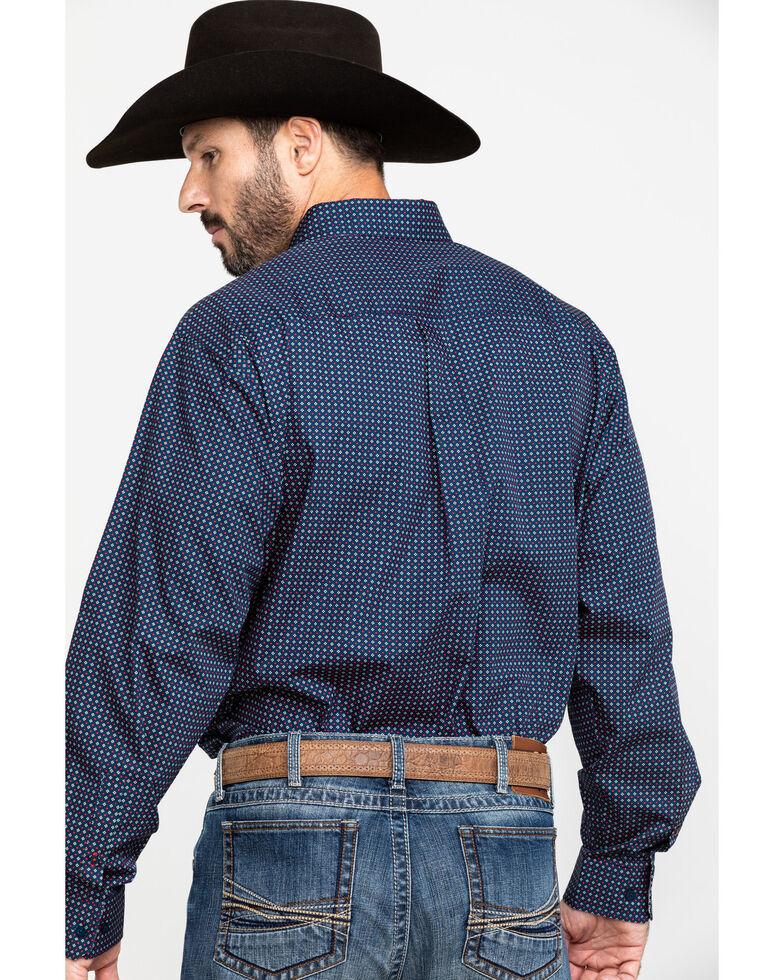 Cinch Men's Navy Geo Plain Weave Print Long Sleeve Western Shirt , Navy, hi-res