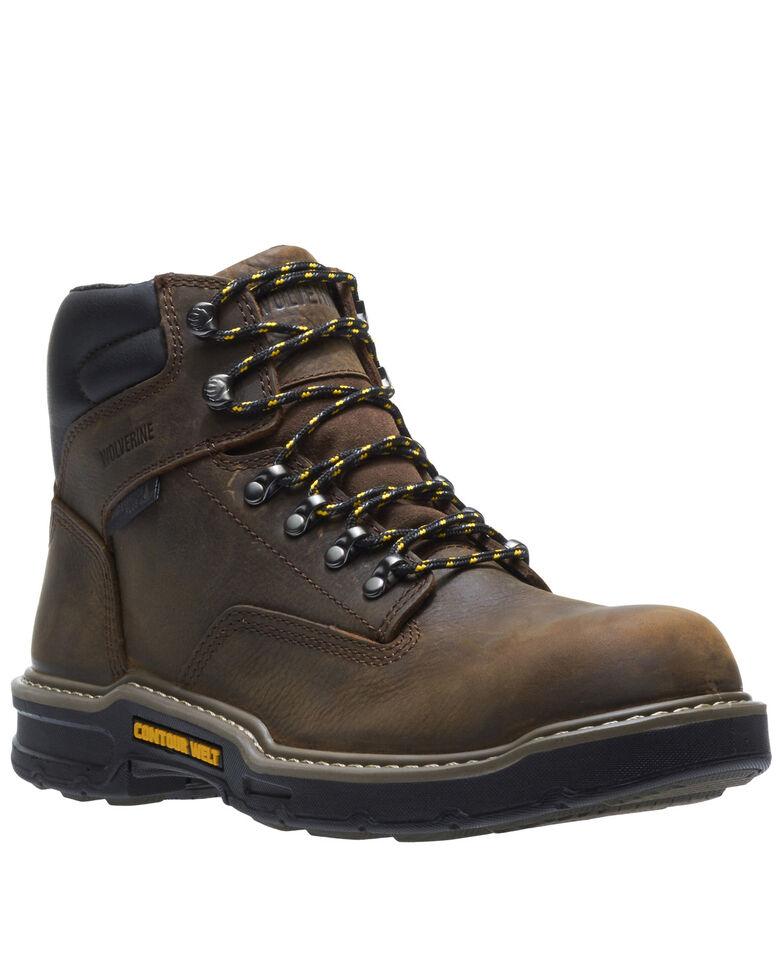 Wolverine Men's Bandit Waterproof Work Boots - Soft Toe, Dark Brown, hi-res