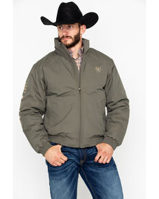 Ariat Men's Team Jacket, Dark Brown, hi-res