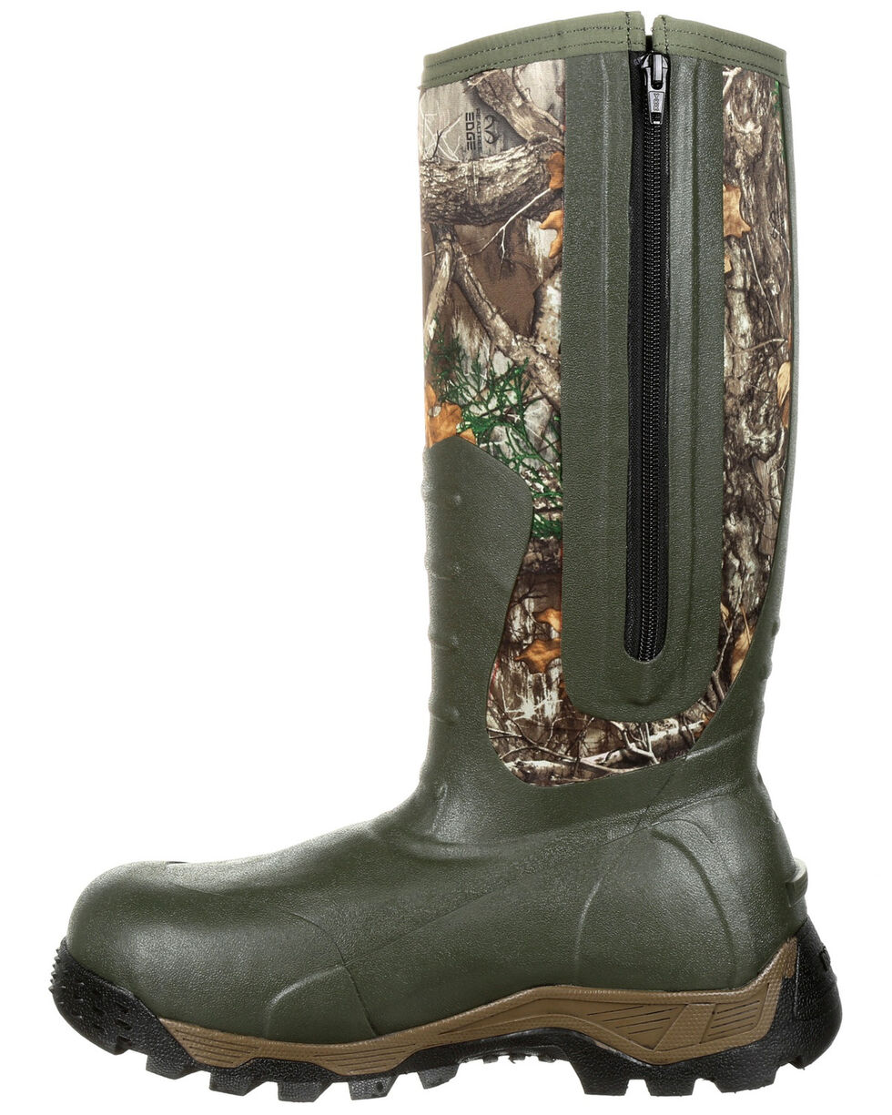 Rocky Men's Sport Pro Insulated Waterproof Rubber Boots - Round Toe, Multi, hi-res