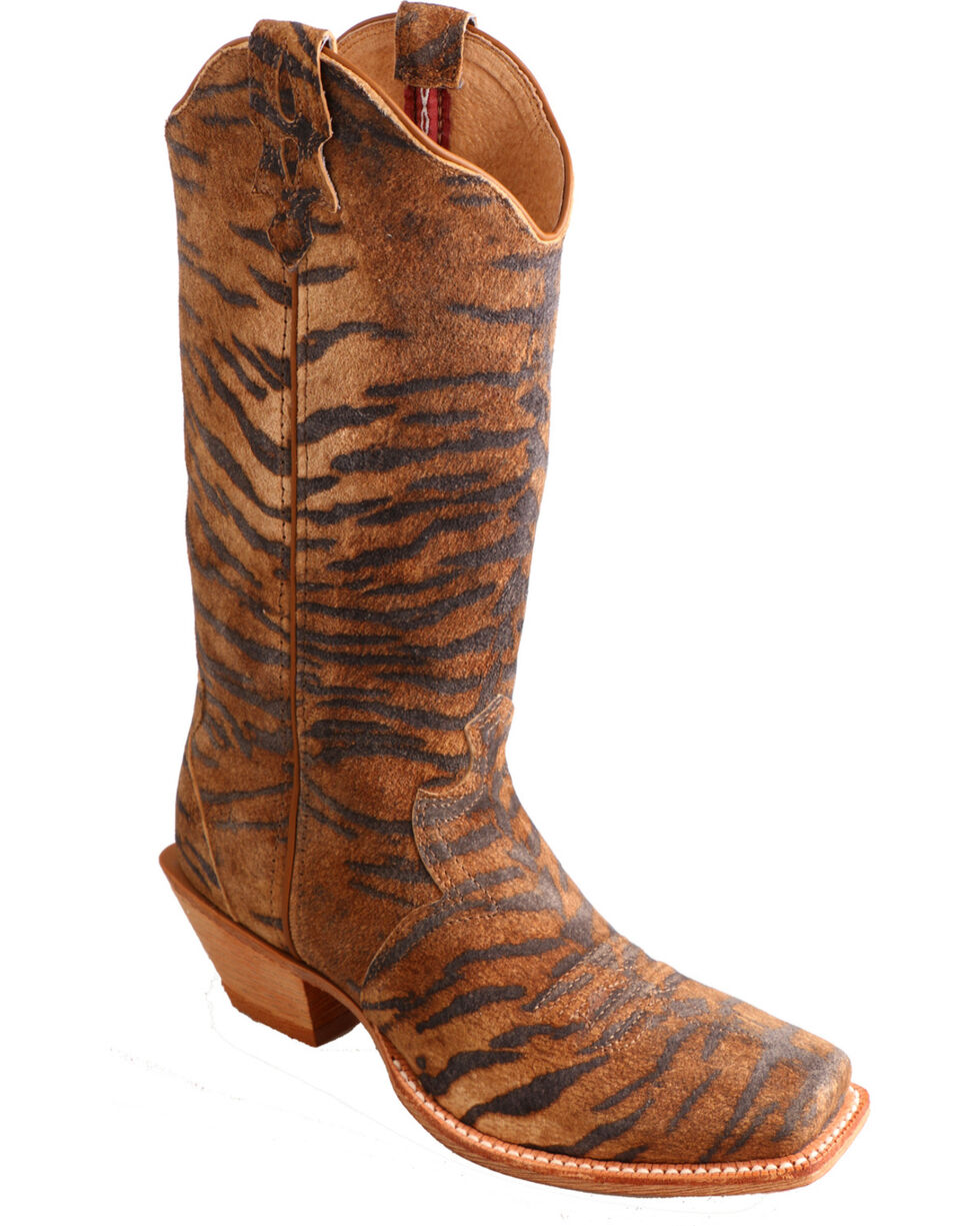 Twisted X Women's Tiger Print Western Boots, Tiger Print, hi-res