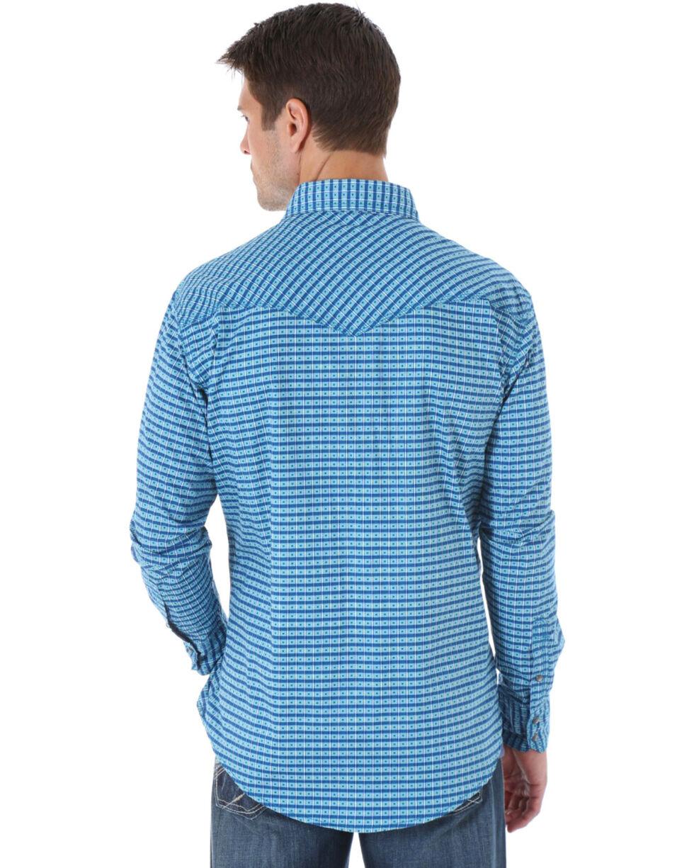 Wrangler 20X Turquoise Print Western Shirt , Turquoise, hi-res