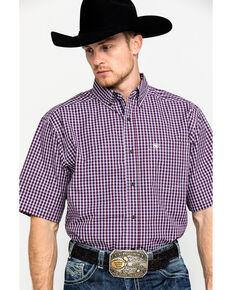 Ariat Men's Suderman Small Plaid Short Sleeve Western Shirt , Multi, hi-res