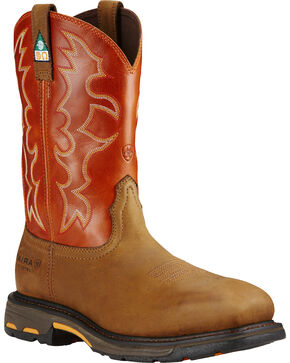 Ariat Men's WorkHog CSA Work Boots, Earth, hi-res