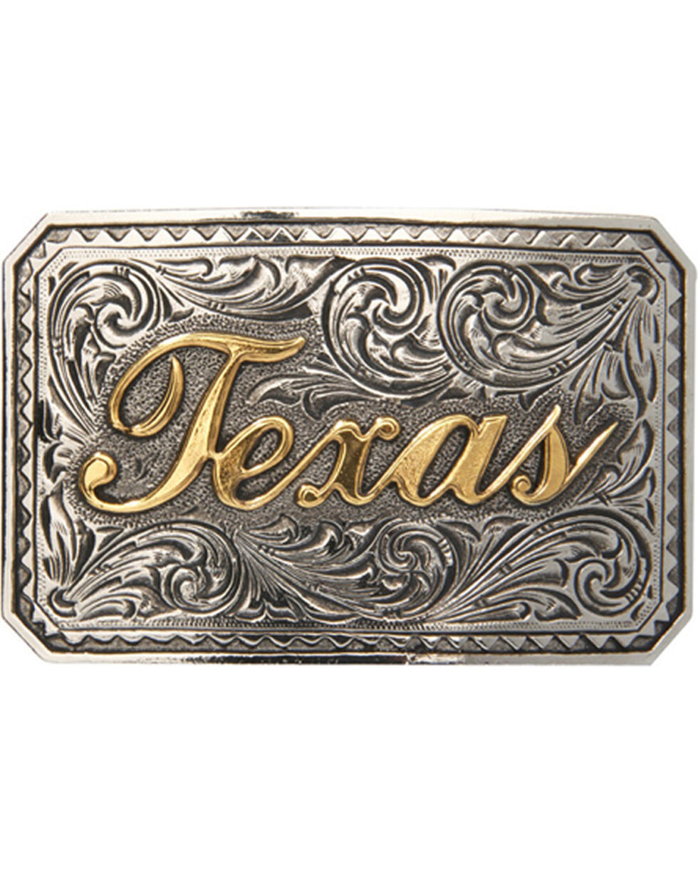 AndWest Men's Texas Ranger Two-Tone Belt Buckle, Two Tone, hi-res