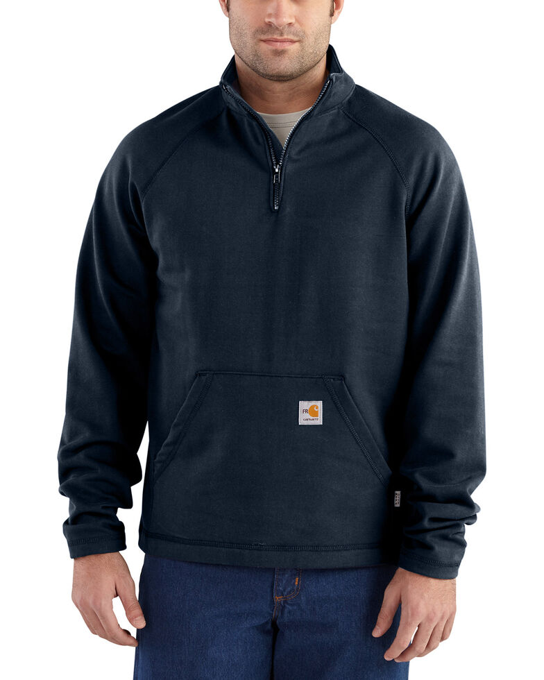 Carhartt Men's Flame Resistant Force Quarter-Zip Fleece Pullover - Big & Tall, , hi-res