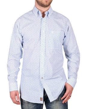 Ariat Men's Pattern Long Sleeve Shirt , White, hi-res