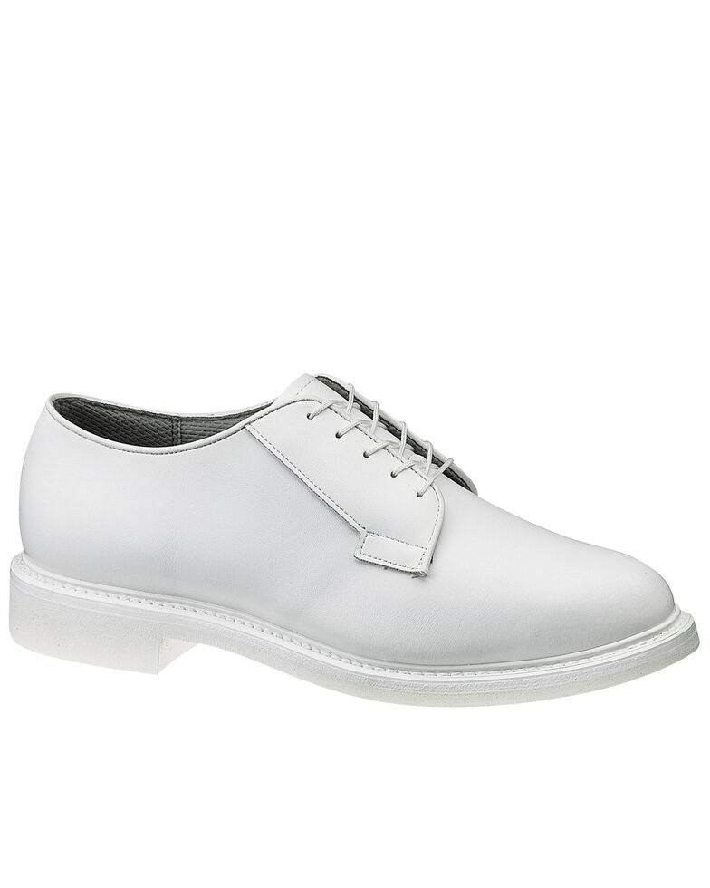 Bates Men's White Oxford Shoes, White, hi-res