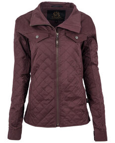 STS Ranchwear Women's Plum Quilted Finley Tracker Jacket , Purple, hi-res