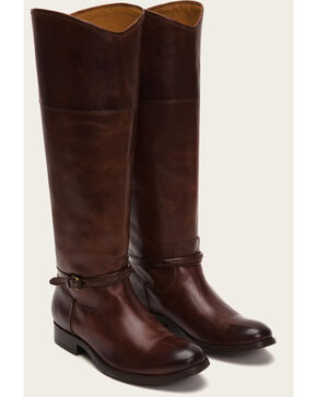 Frye Women's Melissa Seam Tall Boots  , Brown, hi-res