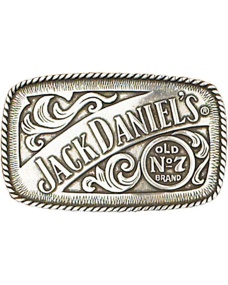 Western Express Men's Silver Jack Daniels Old No. 7 Belt Buckle , Silver, hi-res