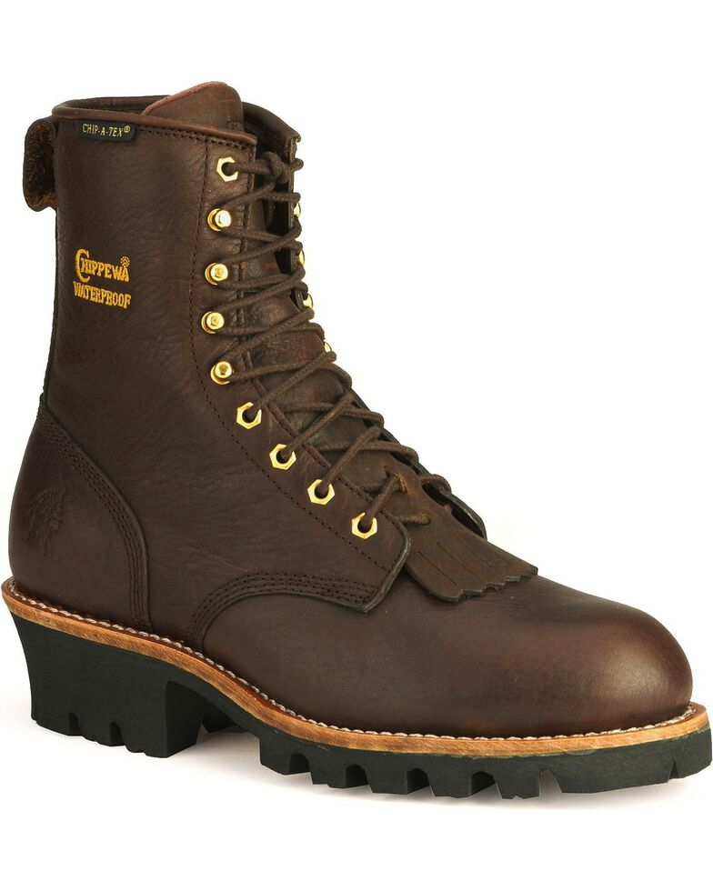 Chippewa Men's Insulated Waterproof Steel Toe Logger Work Boots, Briar, hi-res