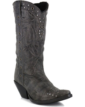 Durango Women's Crush Punk Studded Western Boots, Black, hi-res