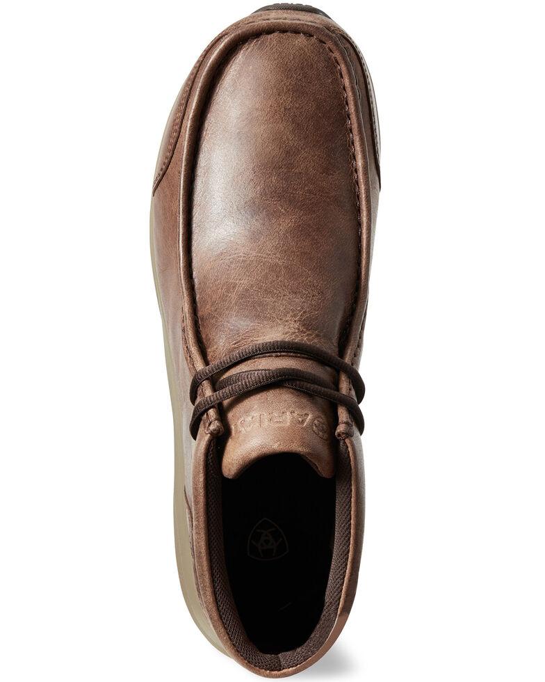 Ariat Men's Spitfire Cowboy Shoes - Moc Toe, Brown, hi-res