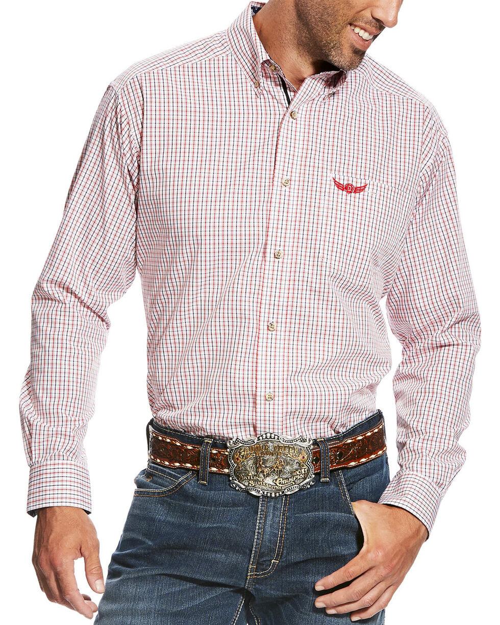 Ariat Men's White Intensity Long Sleeve Plaid Shirt , White, hi-res