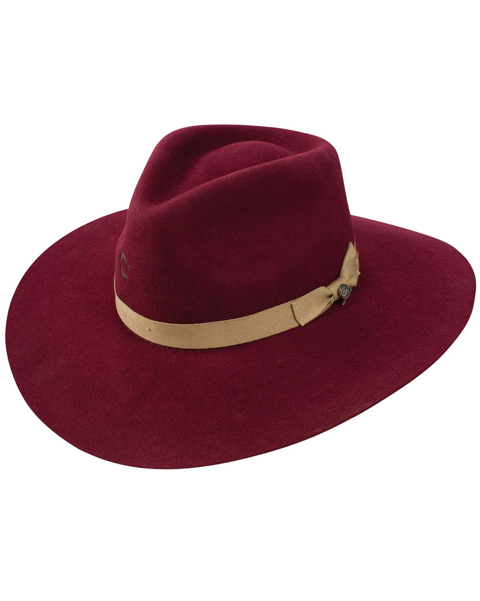 Charlie 1 Horse Women's Highway Wool Hat, Burgundy, hi-res