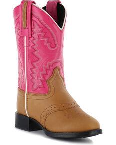 Cody James® Kid's Saddle Vamp Western Boots, Tan, hi-res