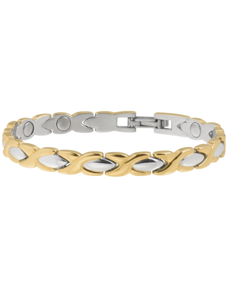 Sabona Women's Executive Dress Gold Duet Bracelet, Two Tone, hi-res