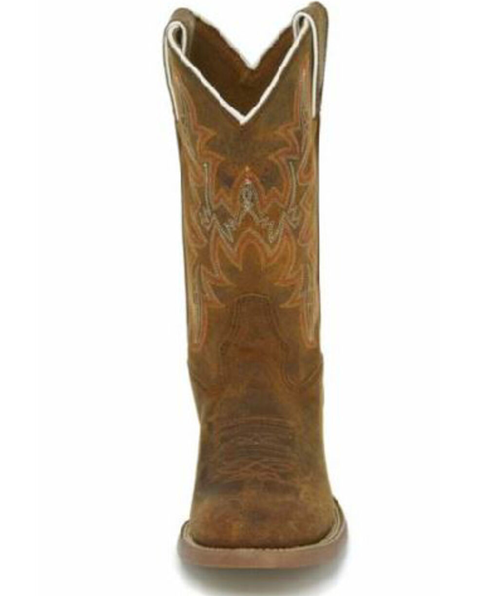 Justin Boys' Stampede Western Boots - Round Toe, Brown, hi-res