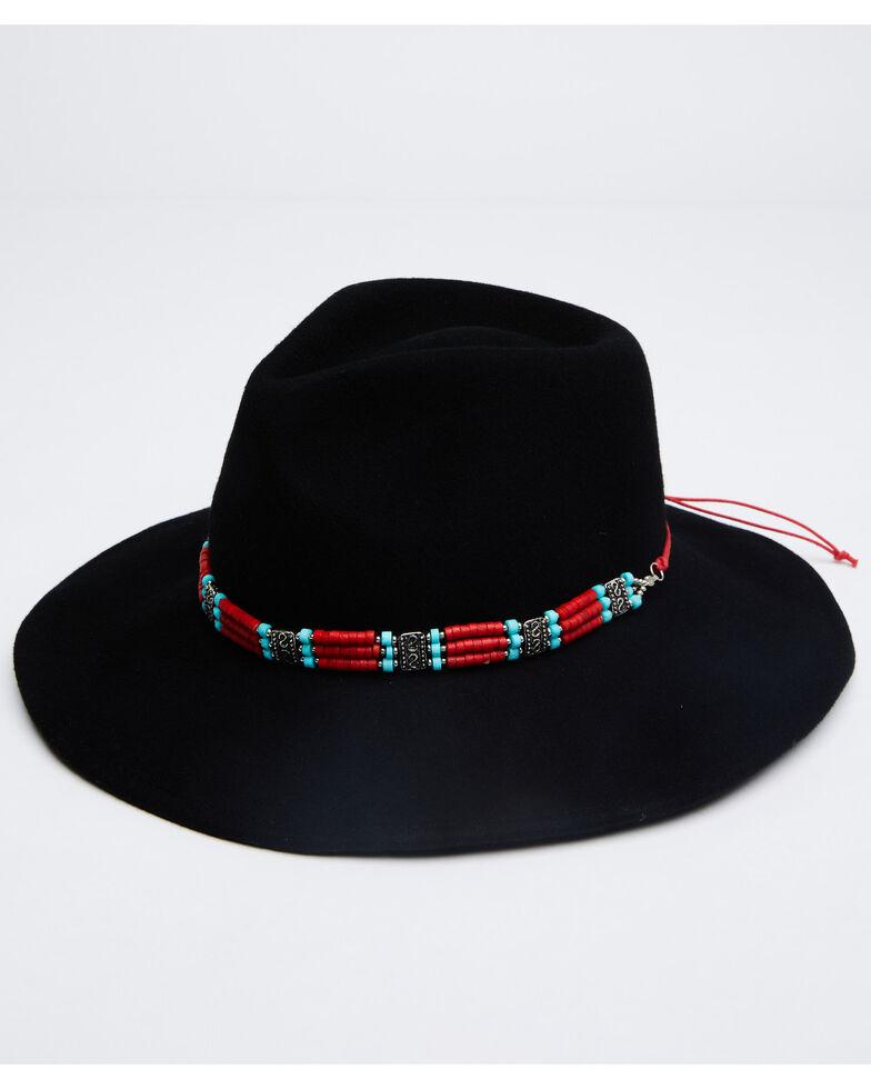 Nikki Beach Women's Taos Wool Felt Rancher Western Hat , Black, hi-res