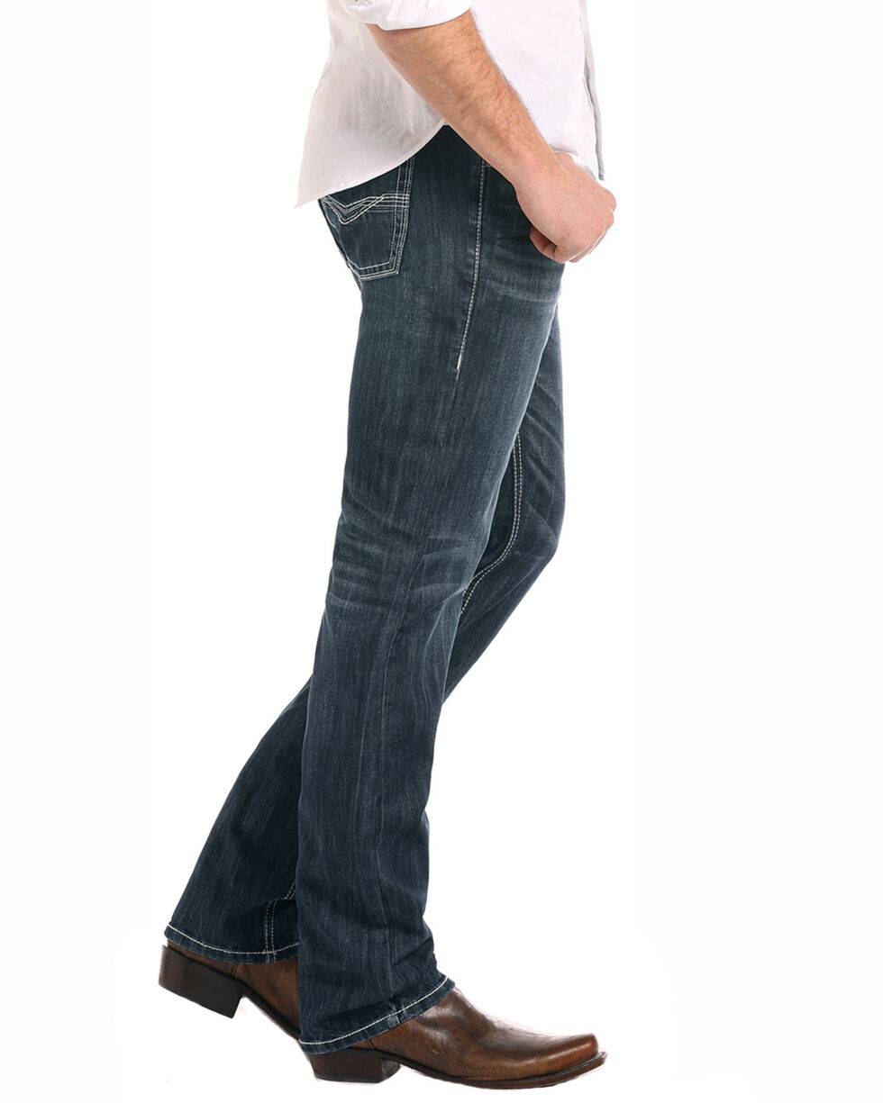 Rock & Roll Cowboy Men's Reflex Revolver Slim Fit Jeans, Dark Blue, hi-res