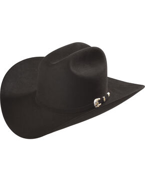 Larry Mahan Black Imperial 1000X Felt Cowboy Hat , Black, hi-res
