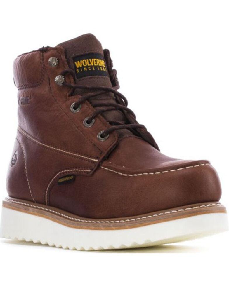 Wolverine Men's Loader Waterproof Work Boots - Steel Toe, Brown, hi-res