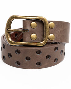 Shyanne Women's Triple Row Holy Belt, Brown, hi-res