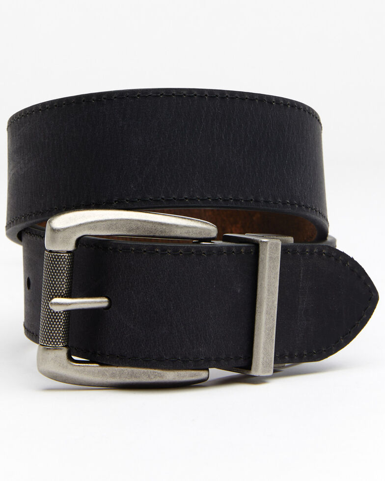 Hawx Men's Rugged Reversible Work Belt, Black/brown, hi-res