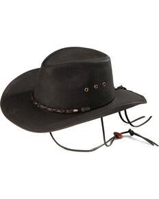Outback Unisex Bootlegger Hat, Black, hi-res