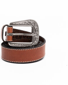 Shyanne Women's Brown Skinny Basic Western Belt , Brown, hi-res