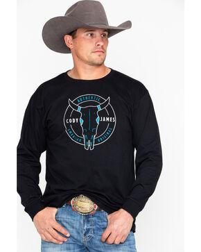 Cody James Men's American OG Long Sleeve Shirt, Black, hi-res