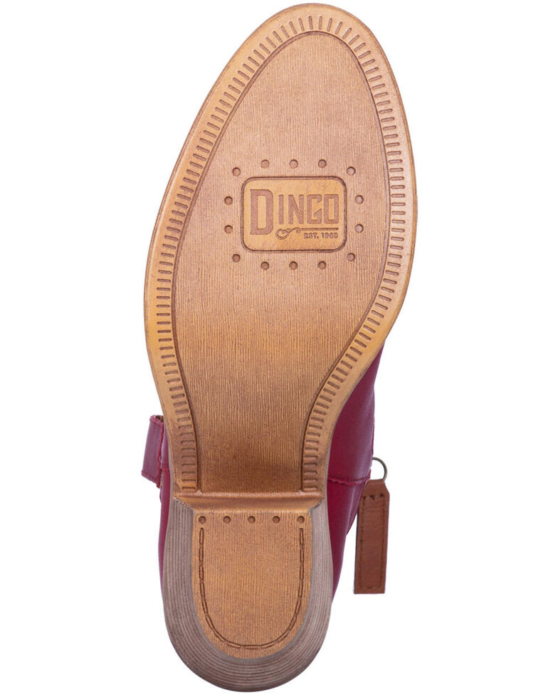 Dingo Women's Red Urban Cowgirl Western Booties - Round Toe, Red, hi-res
