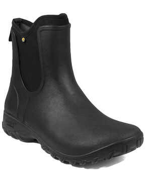Bogs Women's Sauvie Slip-On Outdoor Boots - Round Toe, Black, hi-res