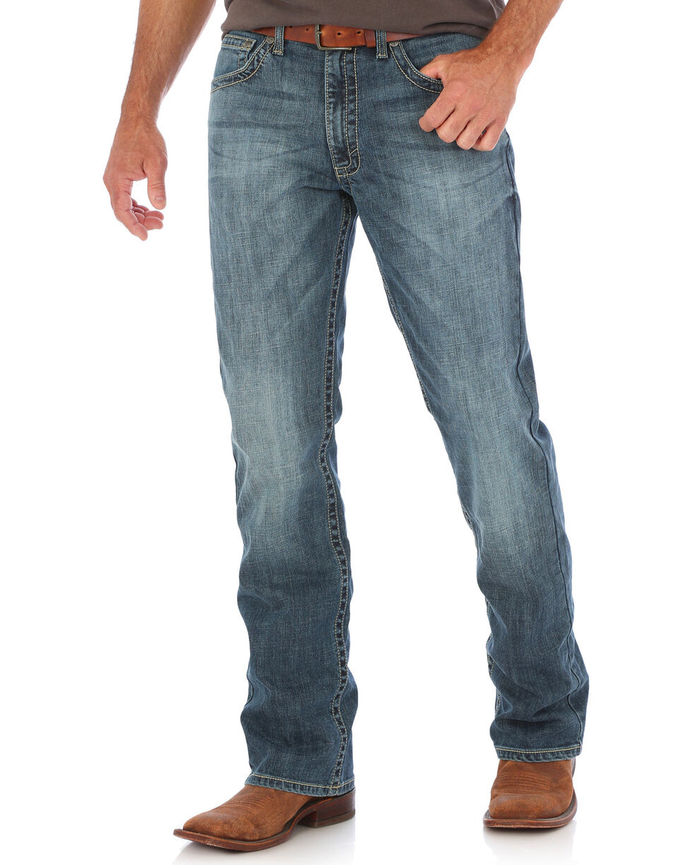 Wrangler 20X Men's Stretch Denim Vintage Boot Cut Jeans, Indigo, hi-res