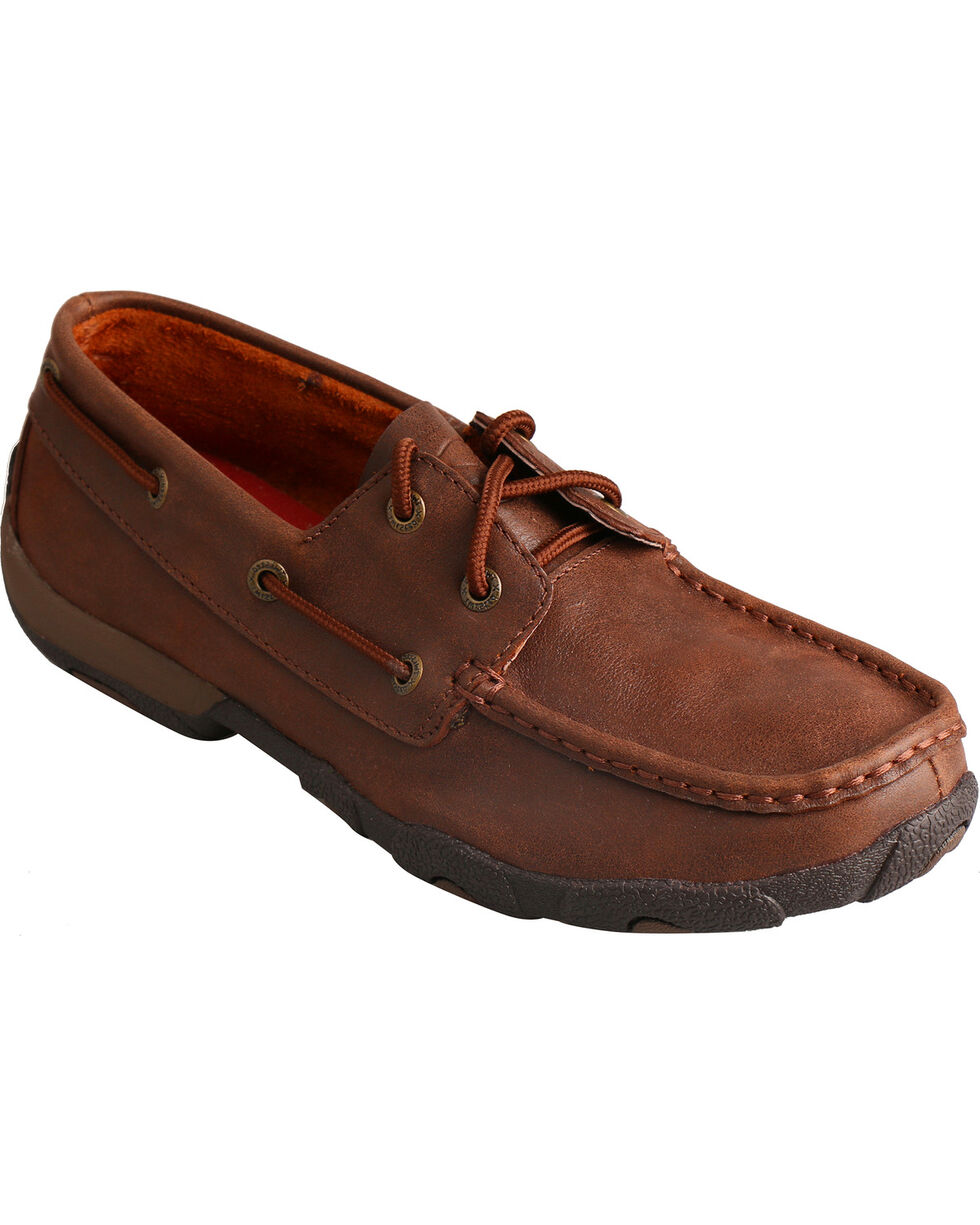 Twisted X Women's Solid Driving Mocs, Brown, hi-res